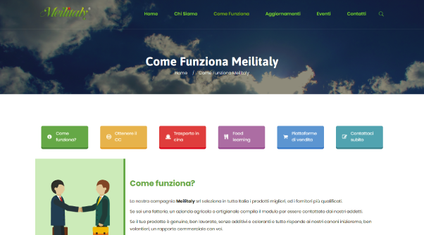 Hexaweb - Portfolio Meilitaly Come Funziona