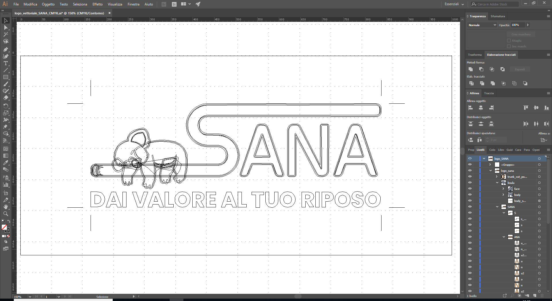Hexaweb - Portfolio Logo Sana Disegno
